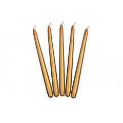 bougie flambeau or métallisé