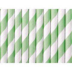 Paille blanche et vert menthe