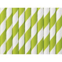 Paille blanche et vert pomme