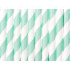 Paille blanche et vert clair