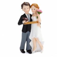 Figurine couple mariés diamant