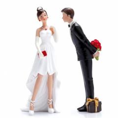 Figurine couple mariés 2 pièces