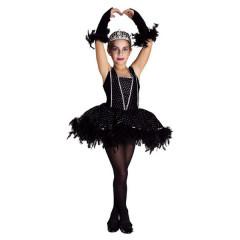 Déguisement fille ballerine cygne noir