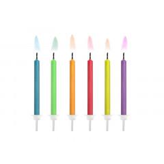Bougies anniversaire multicolore