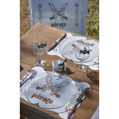 6 Sets de table « Pirate » - Bleu