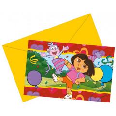 Cartes d'invitation Dora l'exploratrice