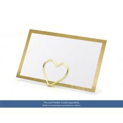 10 x Marque place carte liseré or, 9.5 x 5.5 cm