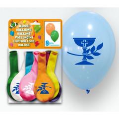 Ballons communion - calice  - x 8