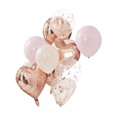 Pack de ballons rose gold