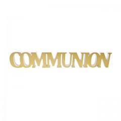 Déco de table communion or
