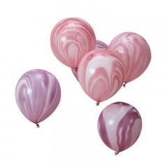 pack ballons rose et violet marbré
