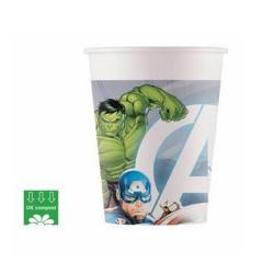 Gobelets en carton Avengers compost