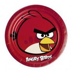 Assiettes Angry Birds x8 - Ø 23 cm