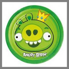 Assiettes Angry Birds - x8 - 18 cm Ø