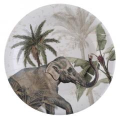 Assiette jungle tropicale x10