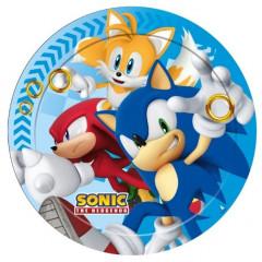 Assiettes Sonic - 23 cm Ø - x8