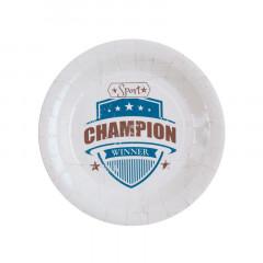 Assiette sport vintage 22.5 cm x10