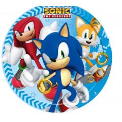 Assiettes Sonic - 18 cm Ø - x8
