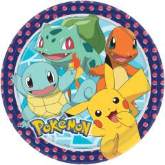Assiettes anniversaire Pokemon x8 - 23 cm