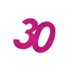 autocollant anniversaire 30 ans fuchsia