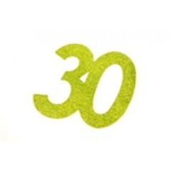 autocollant anniversaire 30 ans vert anis
