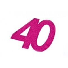 autocollant anniversaire 40 ans fuchsia