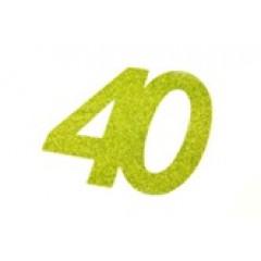 autocollant anniversaire 40 ans vert anis