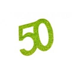 autocollant anniversaire 50 ans vert anis