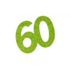 autocollant anniversaire 60 ans vert anis