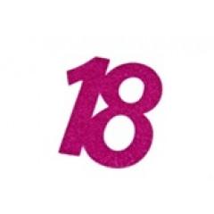 autocollant anniversaire 18 ans fuchsia