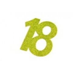autocollant anniversaire 18 ans vert anis