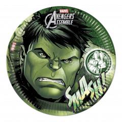 8 assiettes Avengers Hulk