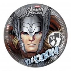 8 assiettes Avengers Thor