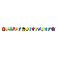 guirlande happy birthday avengers team power