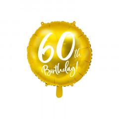 Ballon anniversaire 60 ans or