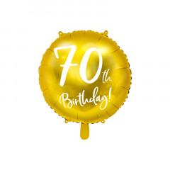 Ballon Anniversaire 70 ans - or