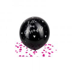 ballon géant confettis rose