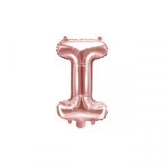 Ballon rose gold lettre I - 36 cm