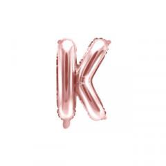 Ballon rose gold lettre K - 36 cm