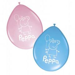 8 ballons anniversaire Peppa Pig