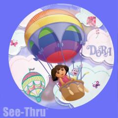 Ballon transparent Dora l'exploratrice 66 cm