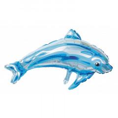 Ballon hélium dauphin bleu  84cm x 47cm
