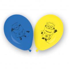 8 ballons en latex - Minions