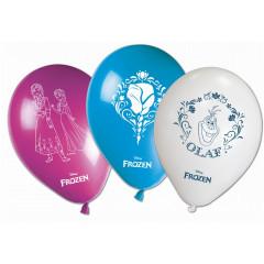 8 ballons anniversaire Reine des Neiges