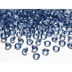 Diamant rond bleu - Ø 1,2 cm