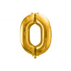ballon chiffre 0 or