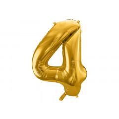 ballon chiffre 4 or