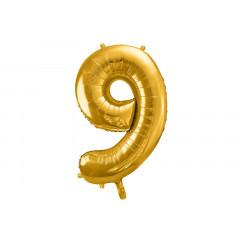 ballon chiffre 9 or
