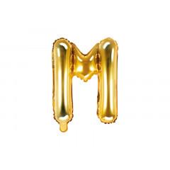 ballon lettre M or