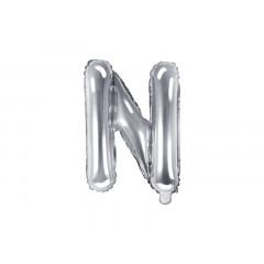 ballon-lettre-argent-n